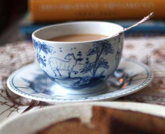 tea cup with sheep