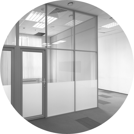 image of partitioned office