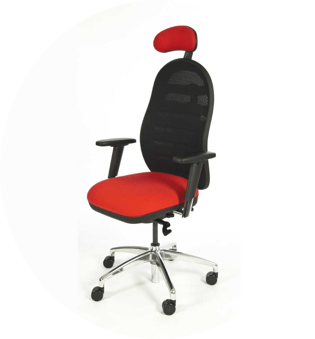 Picture of red office chair in the office chairs range