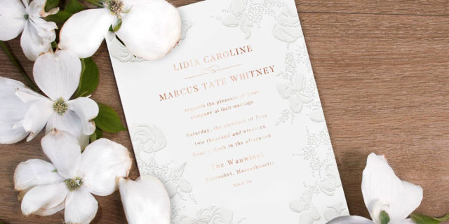 Photo 4 Of 5 Amazing Monique Lhuillier Wedding Invitations 3 By