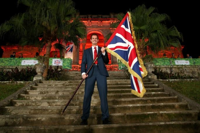 Andy Murray is announced as the flag bearer for Team GB.