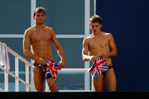 Day two: Team GB divers Tom Daley and Dan Goodfellow  at the Maria Lenk Aquatic Centre.