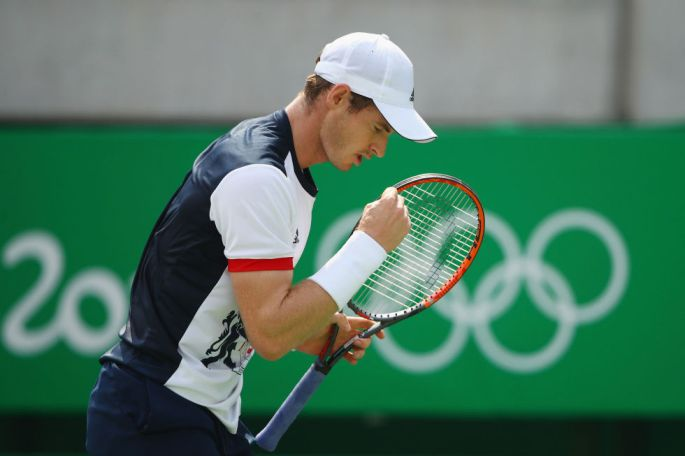 Day four: Andy Murray beats Juan Monaco of Argentina during the Men's Second Round Singles Match.