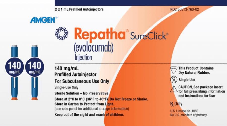 Repatha Side Effects Dose Usage 140 mg/mL