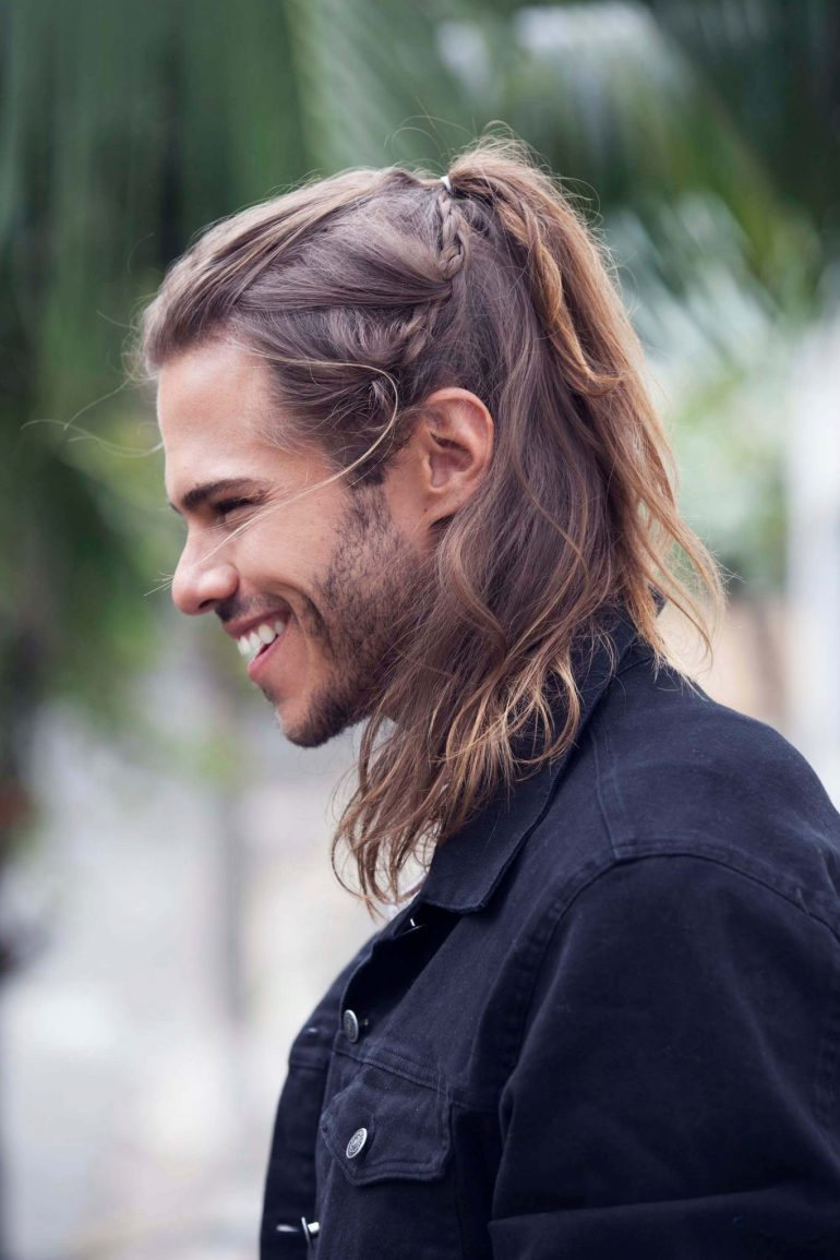 Long Hairstyles for Men - Ponytail Hairstyle For Men - Harpmagazine.com