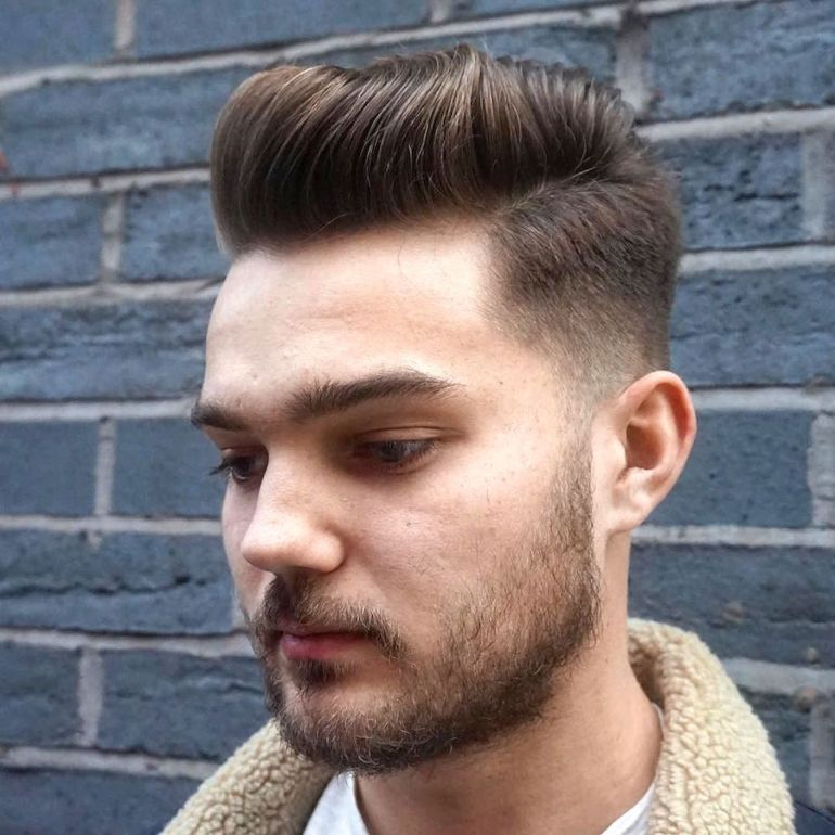 Medium Length Hairstyles for Men: Cool Waved Pompadour 7  - harpmagazine-com