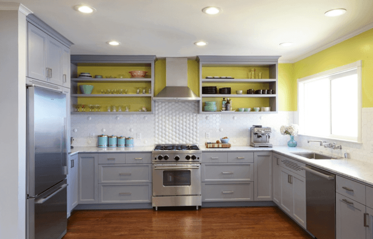 Painted Kitchen Cabinet Ideas Open Shelving