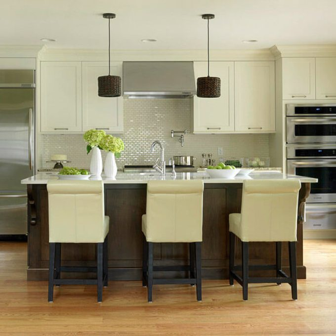 Sleek Transitional Style Kitchen Cabinet Ideas