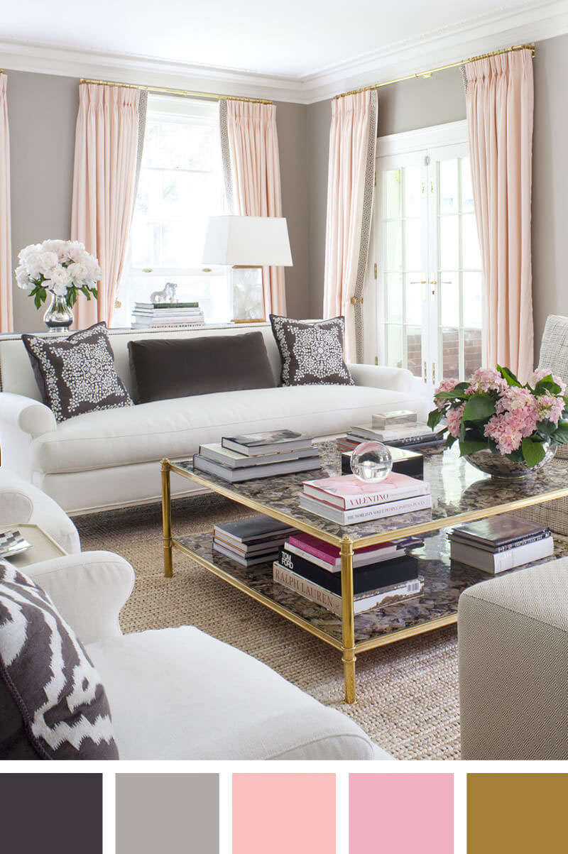 Living Room Ideas: Pretty With Pink