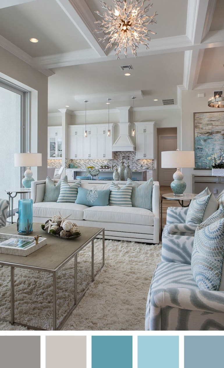 Small Living Room Decorating Ideas - A Calming Sea of Blues
