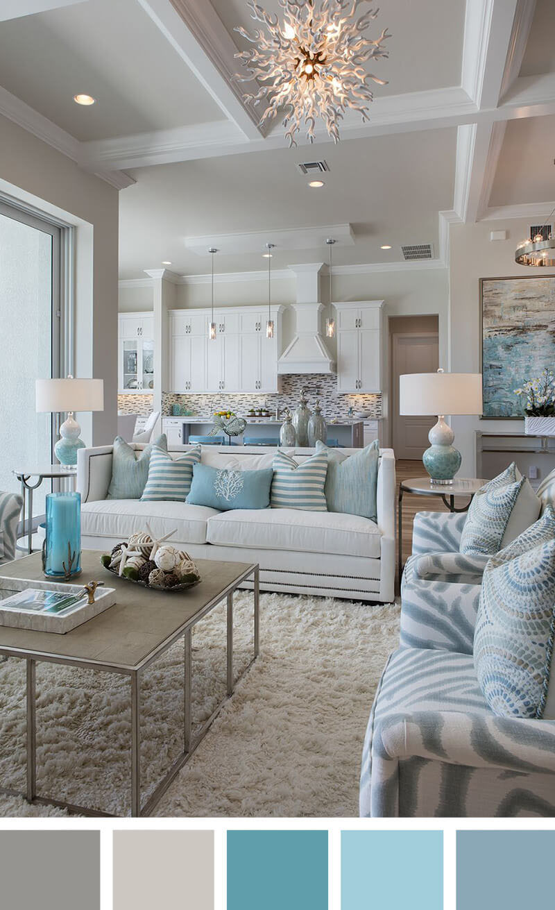 Small Living Room Decorating Ideas   A Calming Sea Of Blues
