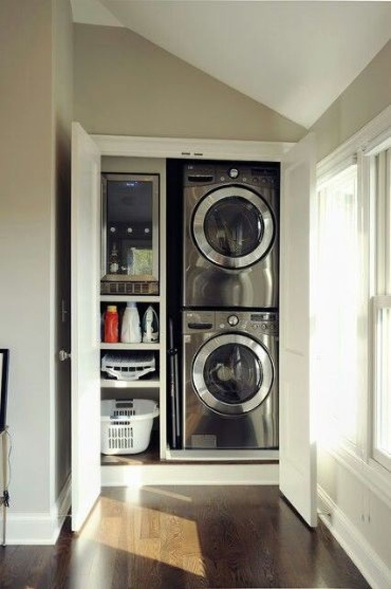 Small Hallway Laundry Room Ideas