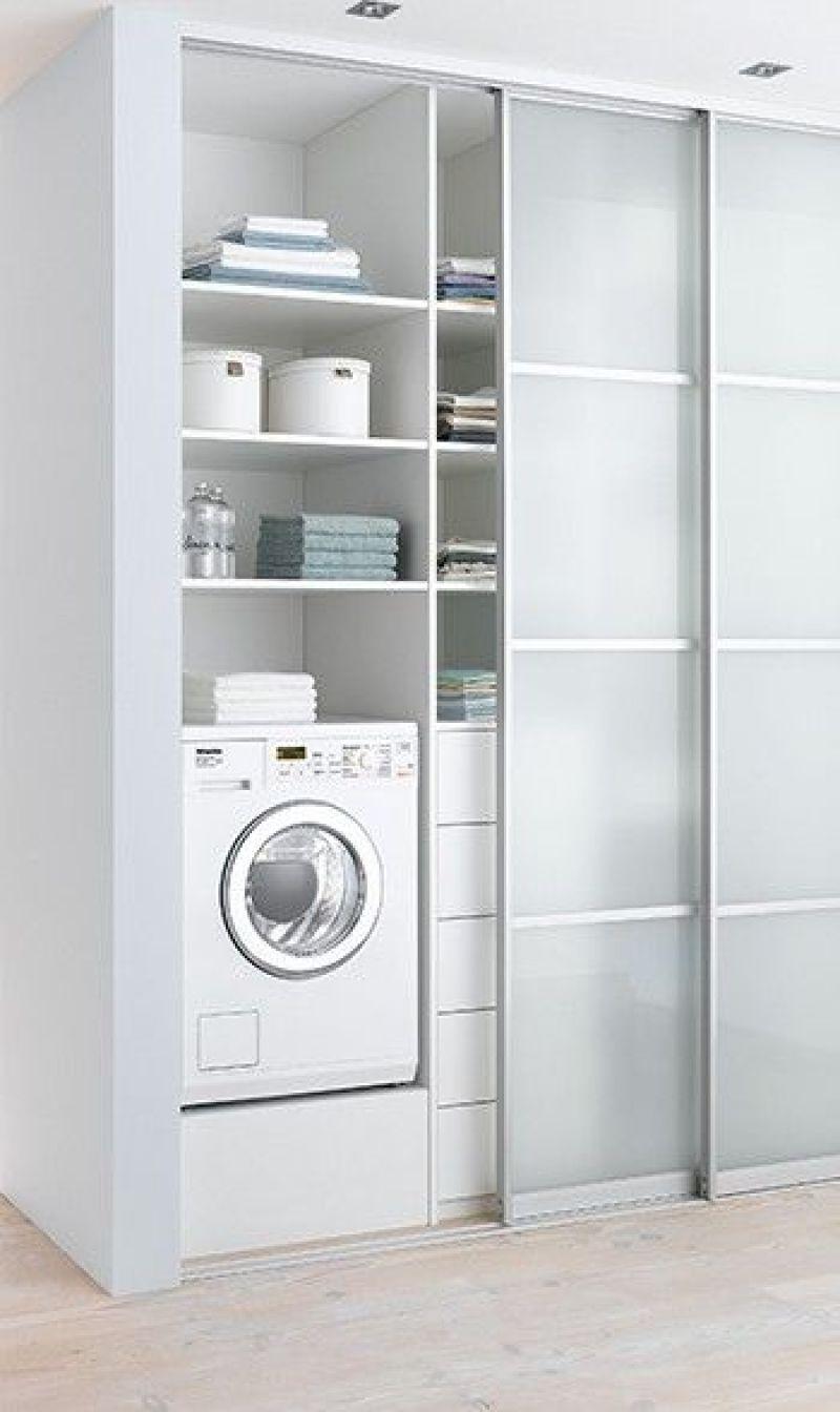 Laundry Room Ideas Closet with Sliding Doors