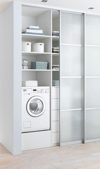 20 Laundry Closet With Sliding Doors