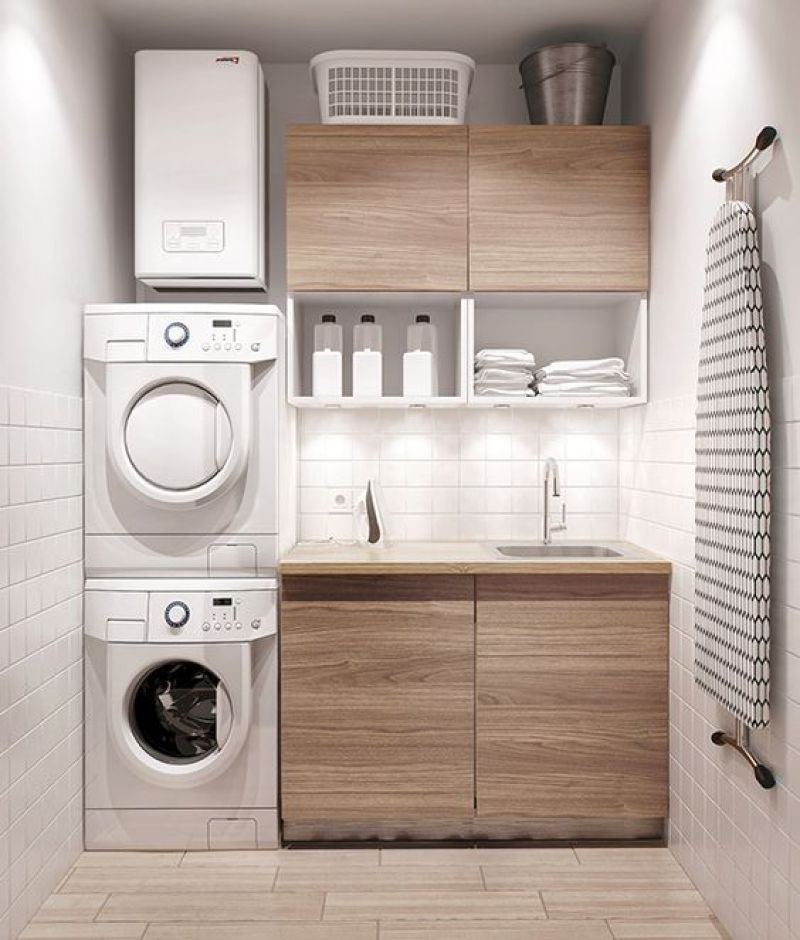 30 best small laundry room ideas and photos on a budget for Small utility room ideas