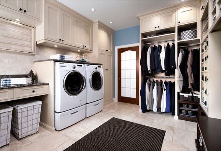 Laundry Room Ideas in the Closet