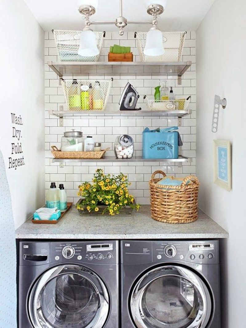 Floating Shelves for Small Laundry Room Ideas
