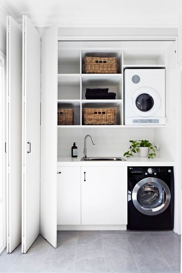 Small Laundry Room Ideas - Compact Hallway