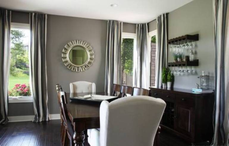 Dining Room Wall Decor - Fabulous Dining Room With Gray Painted Walls - harpmagazine.com