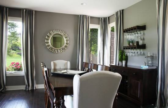 Dining Room Wall Decor   Fabulous Dining Room With Gray Painted Walls    Harpmagazine.com
