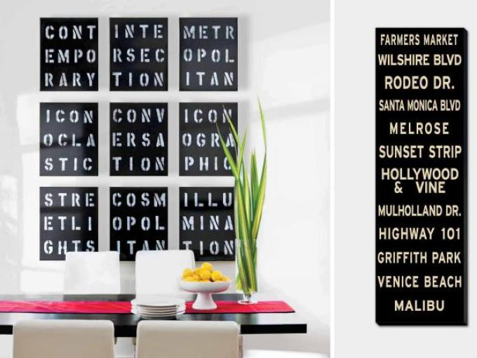 Dining Room Wall Decor Ideas: Typography Artwork - harpmagazine.com