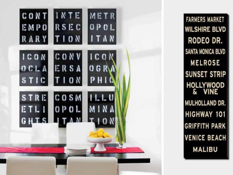 Dining Room Wall Decor Ideas: Typography Artwork - harpmagazine.com