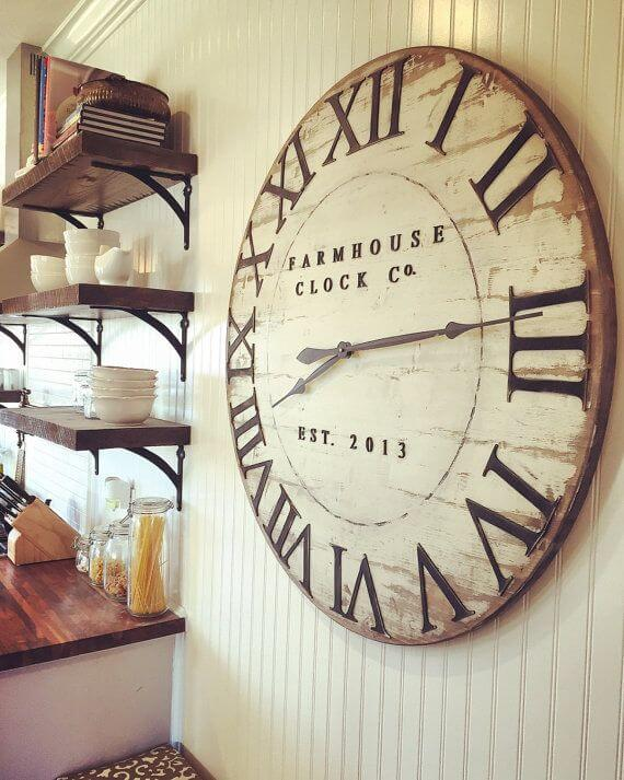 An Old Fashioned Clock For A Farmhouse Look. Dining Room Wall Decor Ideas   ...