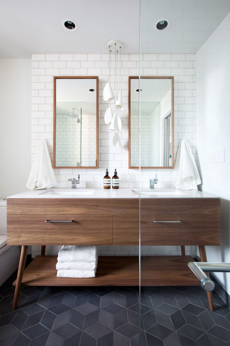 Bathroom Mirror Ideas - Two Rectangular Mirrors 5 - harpmagazine.com