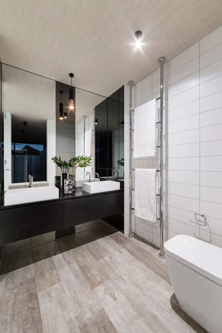 Bathroom Mirror Ideas - Two Rectangular Mirrors 1 - harpmagazine.com