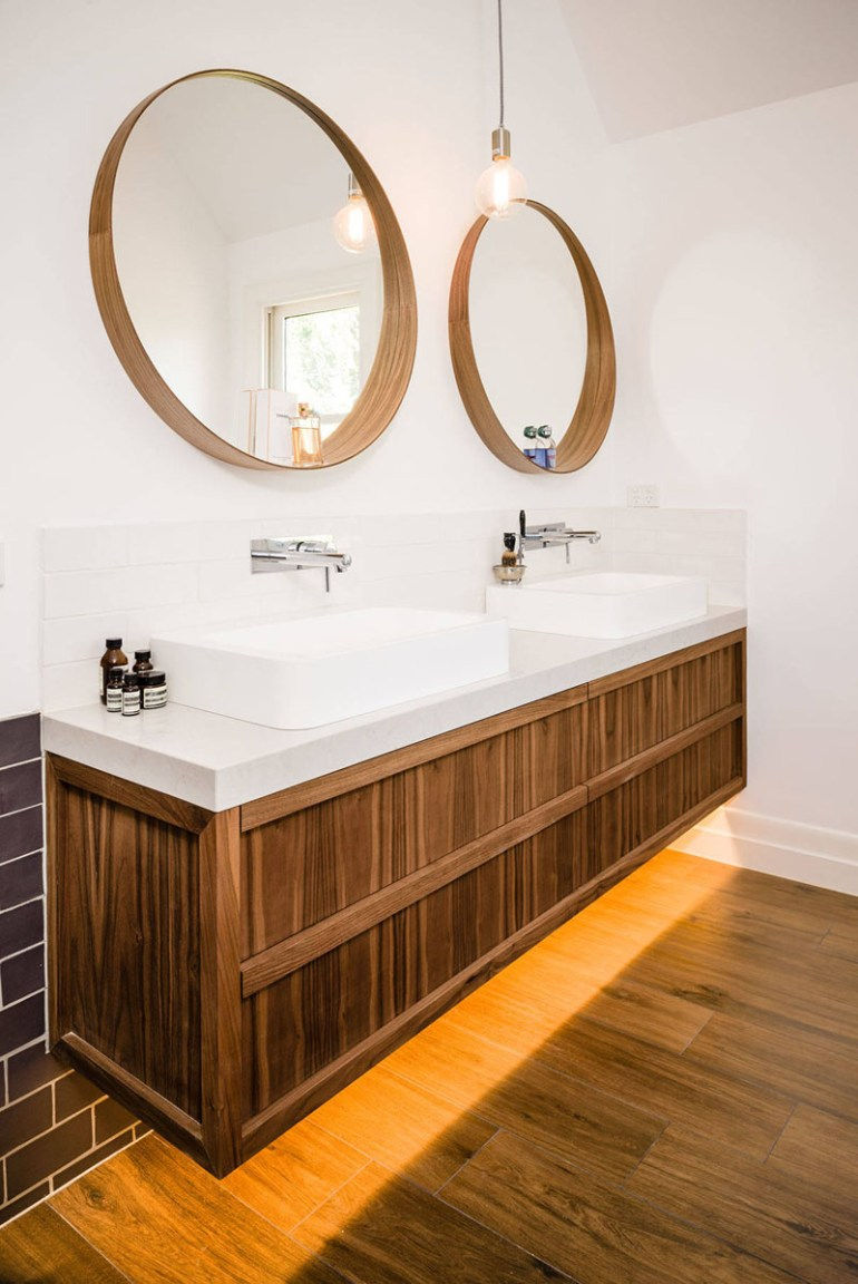 Bathroom Mirror Ideas - Two Round Mirrors 3 - harpmagazine.com