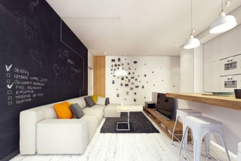 Accent Wall Ideas - Alluring Chalkboard A - harpmagazine.com