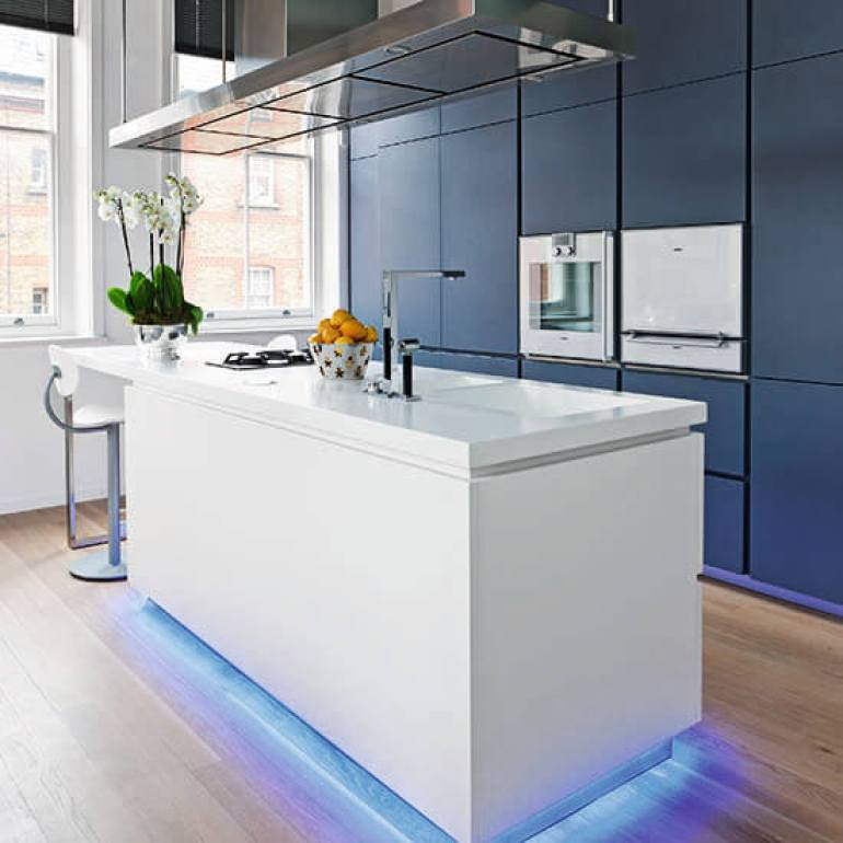 Kitchen Lighting Ideas - Blue Notes - harpmagazine.com