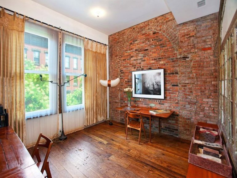 Accent Wall Ideas - Exposed Brick - harpmagazine.com