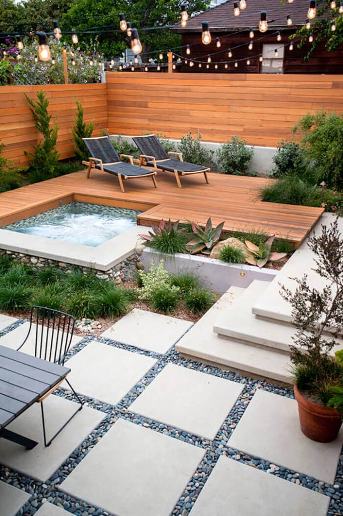 Backyard Landscaping Ideas - Modern Patio - harpmagazine.com