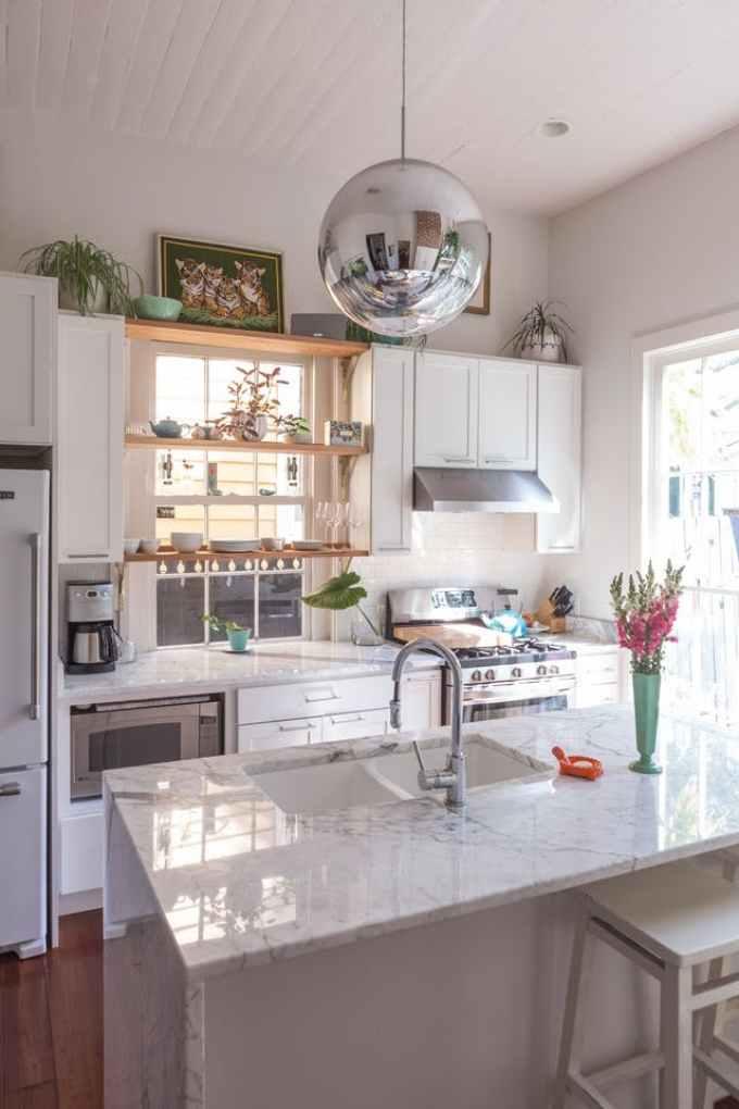 Kitchen Lighting Ideas - A Metallic Globe - harpmagazine.com