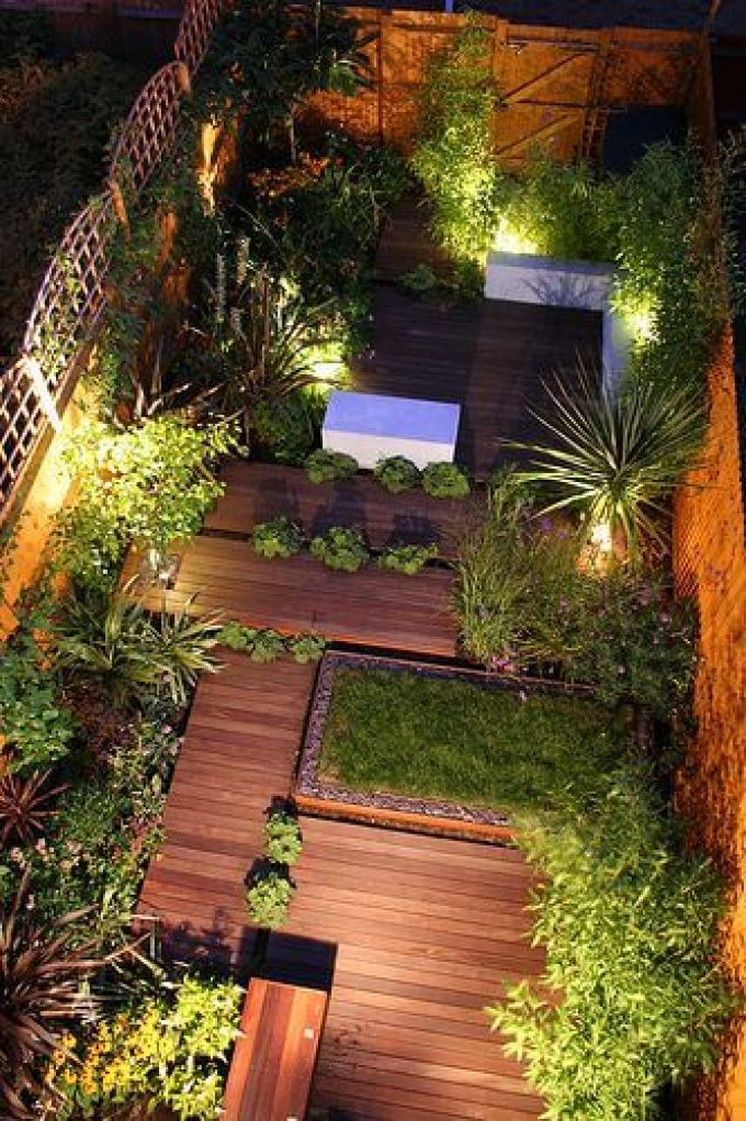 Backyard Landscaping Ideas - Asymmetrical Decking - harpmagazine.com