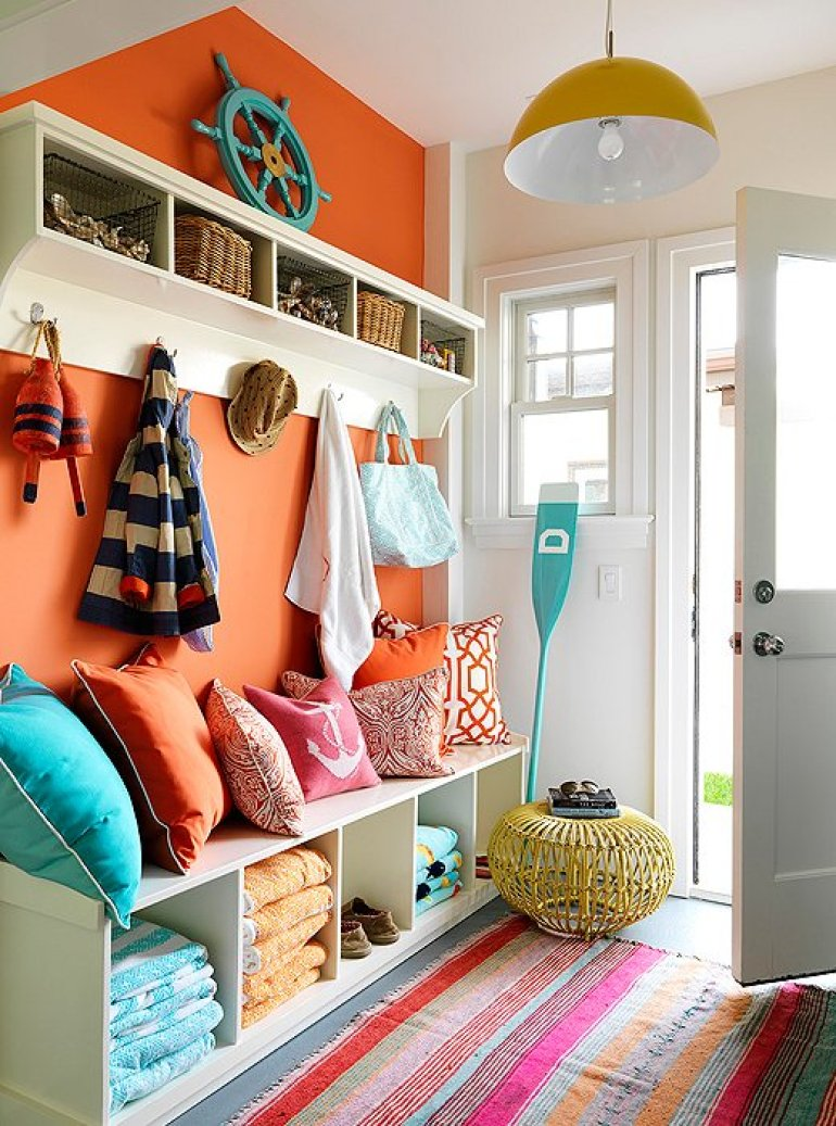 Accent Wall Ideas - Brighten with Tangerine - harpmagazine.com