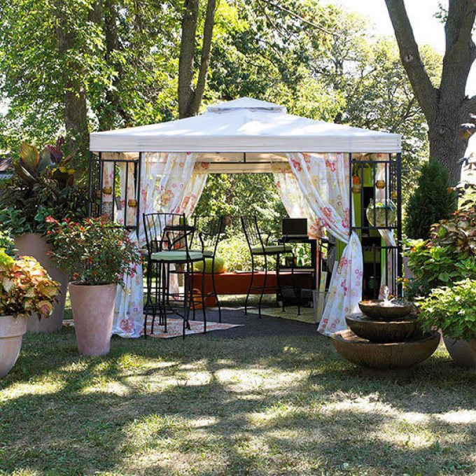 Backyard Landscaping Ideas - Pop Up a Pavilion - harpmagazine.com