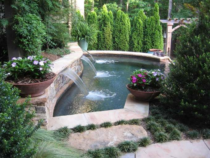 Backyard Landscaping Ideas - Extravagant Fountain - harpmagazine.com