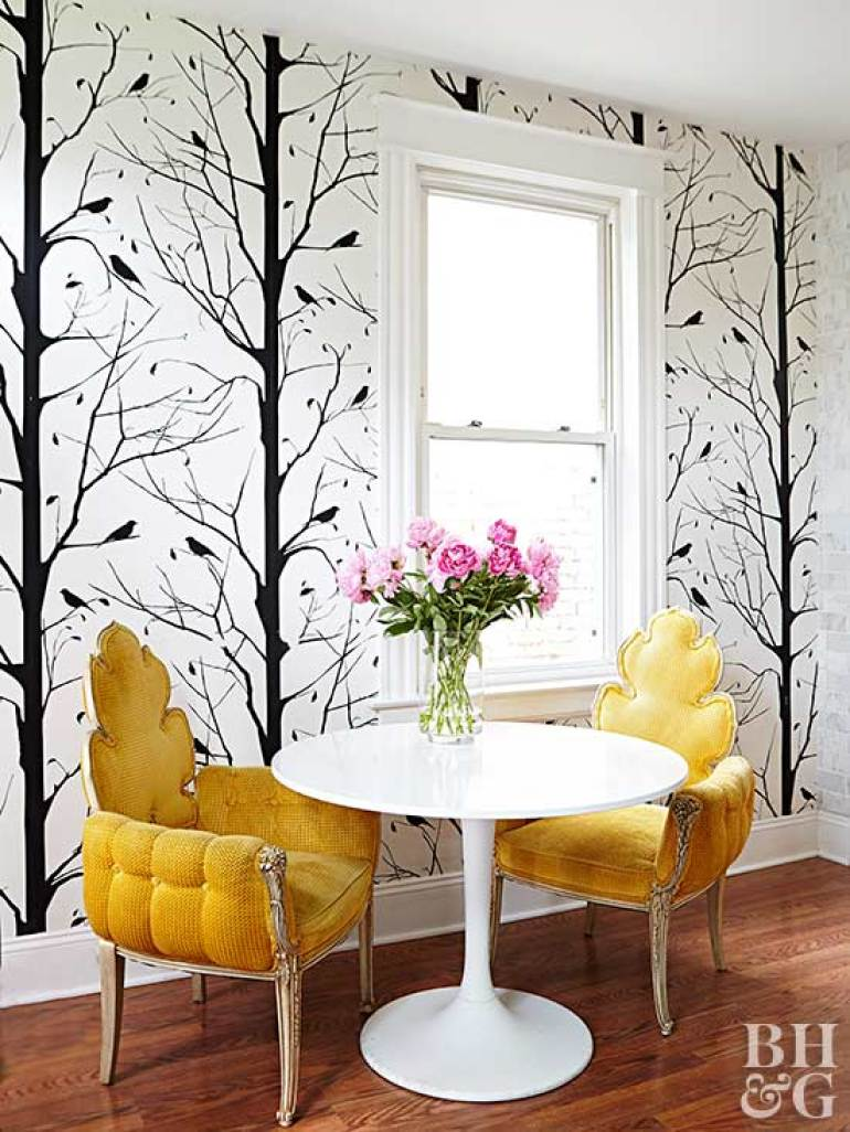 Accent Wall Ideas - Wallpapered - harpmagazine.com