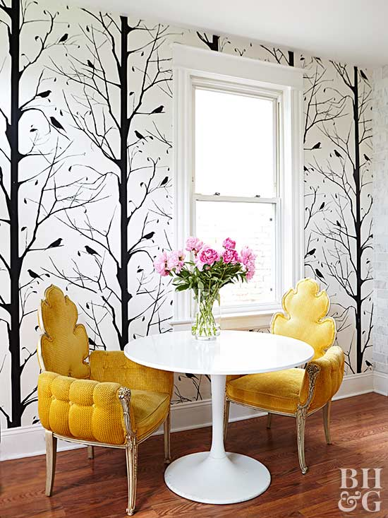 Accent Wall Ideas   Wallpapered   Harpmagazine.com