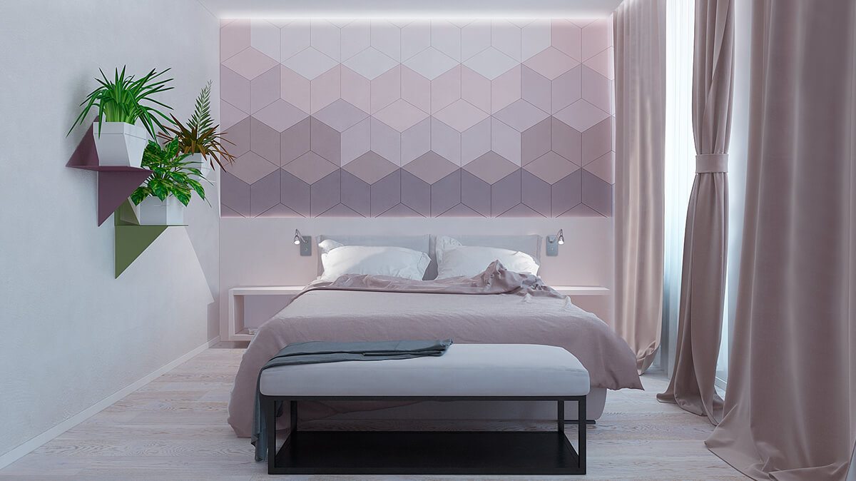 Astonishing Accent Wall Ideas With Geometric Designs B