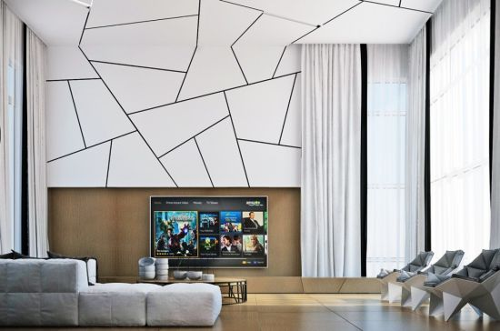 Astonishing Accent Wall Ideas With Geometric Designs Chic Geometric  Patterned Accent Wall A  Harpmagazine.