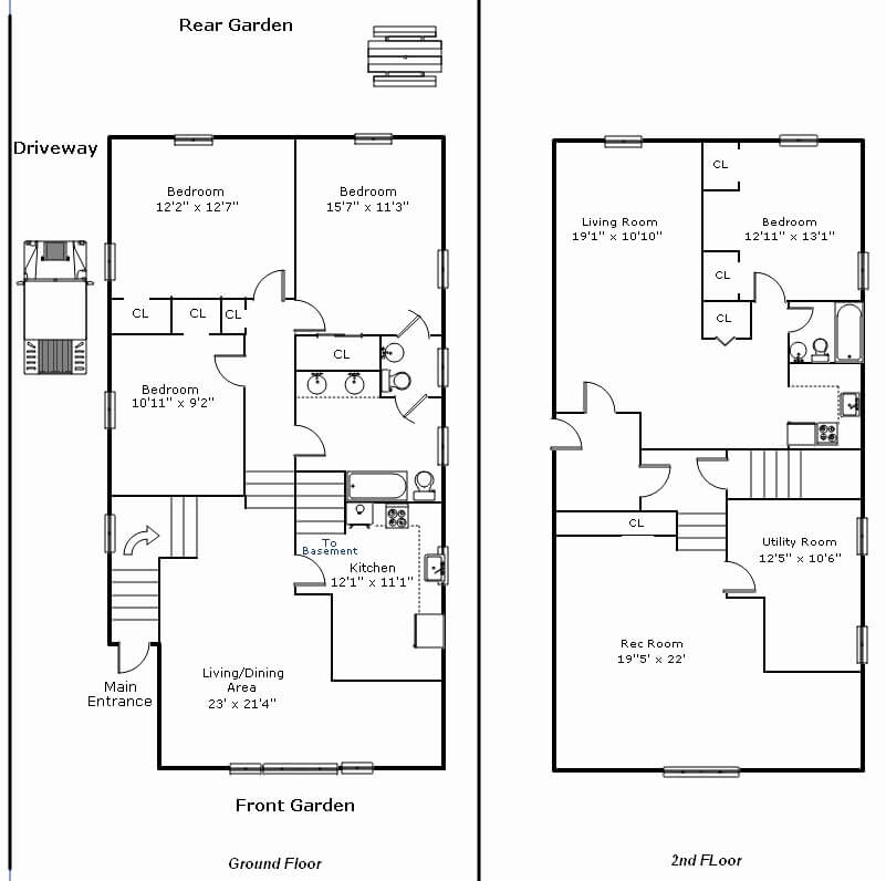 11. Two-Story Barndominium Floor Plan