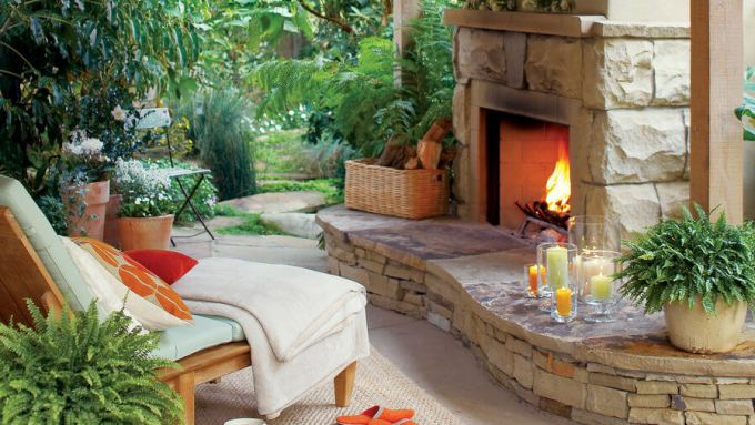 Paver Patio Ideas - Welcoming Winter Patio - harpmagazine.com