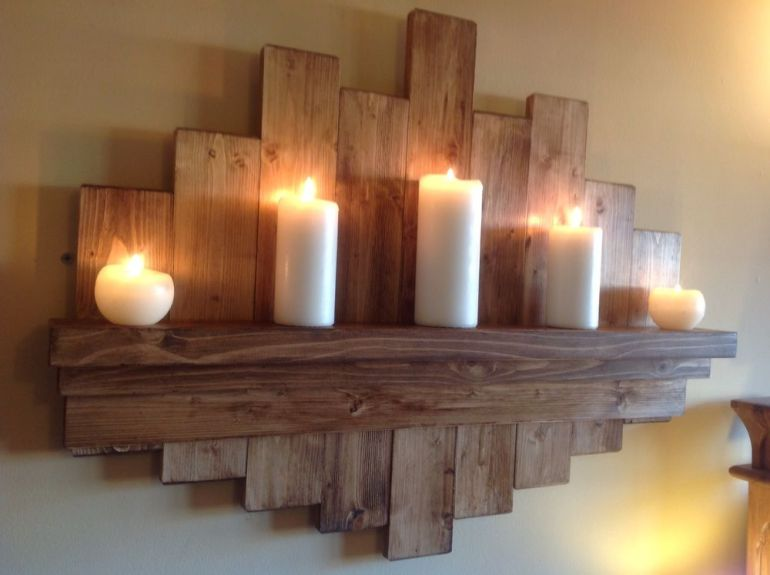 Rustic Wall Decor Ideas - Elegant and Understated Raw Wood Shelf - harpmagazine.com