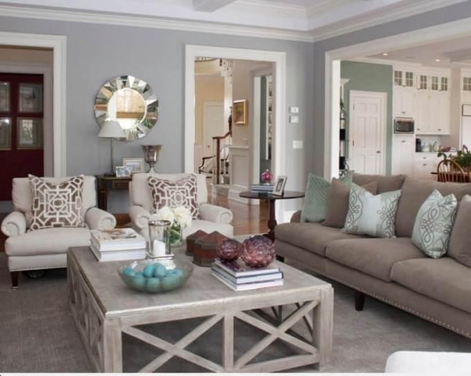 Rustic Chic Living Rooms Ideas - Sueded Soft Wood - harpmagazine.com