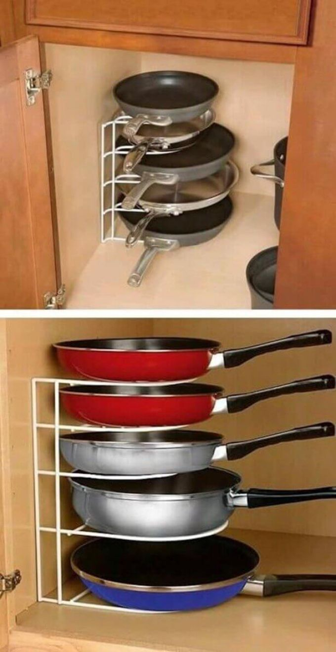 Storage Ideas for Small Spaces - Wire Shelving For Storing Pans - Harpmagazine.com