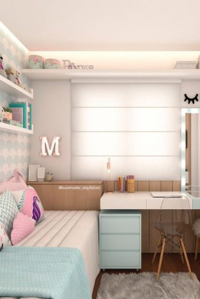 Teenage Girl's Bedroom Ideas - Cute Modern Teen Bedroom For Girls - Harpmagazine.com