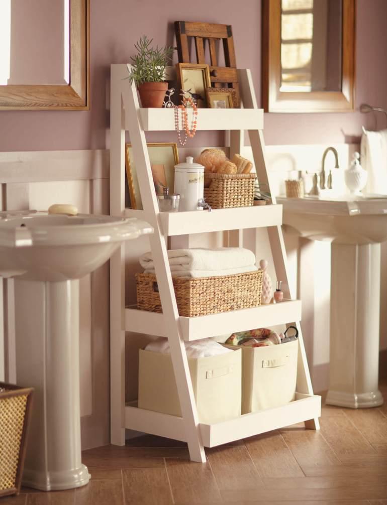 Bathroom Storage Ideas - A-Plus Shelves - harpmagazine.com